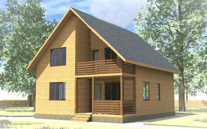 Проект дома из клееного бруса ваш дом.