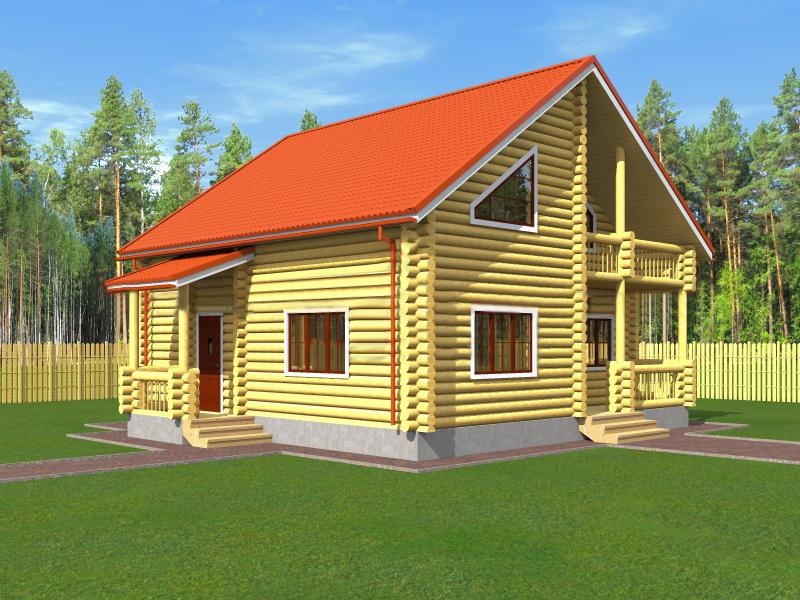Проект дома из бревна ваш дом.